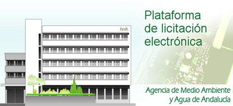 Plataforma de Licitación Electrónca Agencia medio Ambiente y Agua de Andalucía